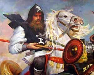 ...конница атаковала Передовой полк русских войск.
